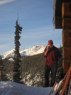I love Colorado any time of year. Here I'm on a ski trip at one of the backcountry huts.