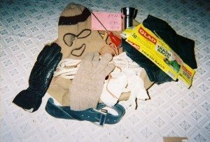 """While researching THE BUNDY MURDERS, the author examined Ted Bundy's """"Murder Kit"""""""