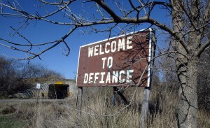 Defiance Town Sign