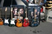 Autographed guitars and movie posters