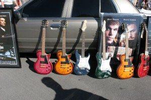 Autographed guitars