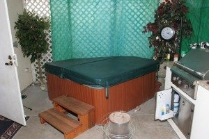 One of two jacuzzis