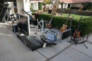 Guitars, electronics and commercial sound production equipment