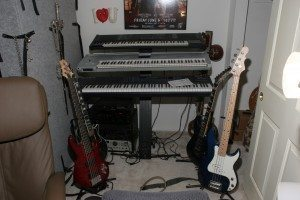 Synthesizers and guitars
