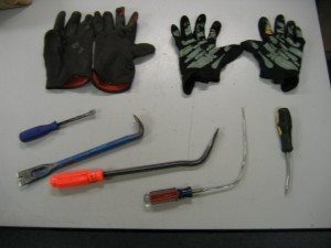 Burglary tools close up
