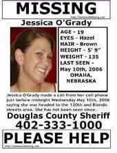 Jessica O'Grady Missing Flyer