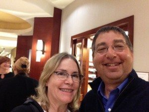 Debbi with Lee Goldberg at Bouchercon