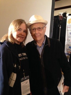 Debbi with Norman Lear at the Austin Film Festival