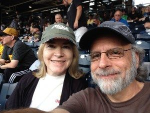 Debbi and Rick at a Pirates game