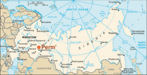 map of perm in russia