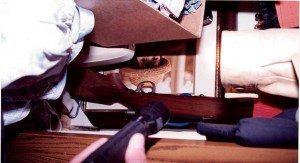 Shotgun in closet
