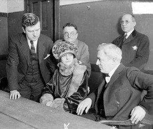 Belva Gaertner at her trial. DN-0077649, Chicago Daily News, 6 June 1924 in Chicagology