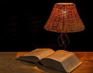 book-under-light