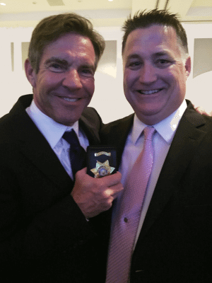 Sin City Cop and Author Bradley Nickell with Actor Dennis Quaid