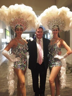 Sin City Cop and Author Bradley Nickell with Las Vegas Showgirls