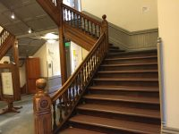 A staircase in the Aspen courthouse where Bundy was filmed walking down soon after his capture his escape from the courthouse jail
