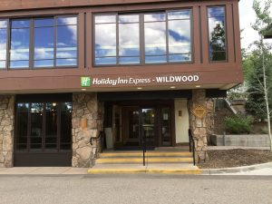 The front of the Wildwood Inn in Snowmass, Co. It was here where Bundy, by way of a ruse, convinced Caryn Campbell to follow him to his car where he took control of her
