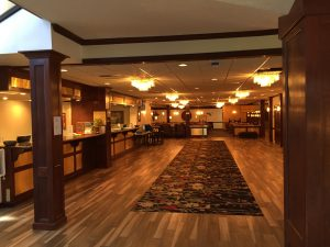 The lobby at the Holiday Inn in Pocatello, Idaho where Bundy obtained a room on May 5, 1975. He would kill young Lynette Culver in his room the following day