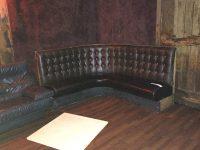 "The ""Bundy sofa"", on display at Dante's"