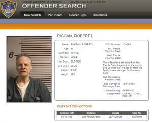 Robert Riggan as he appears now in his Colorado prison file