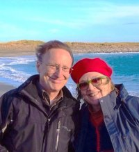 Margo in Ireland with her brother Jim.