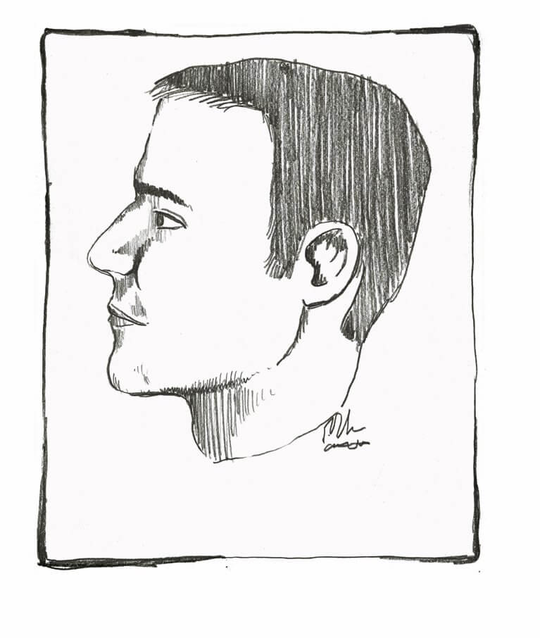 Suspect sketch. Evidence Photo
