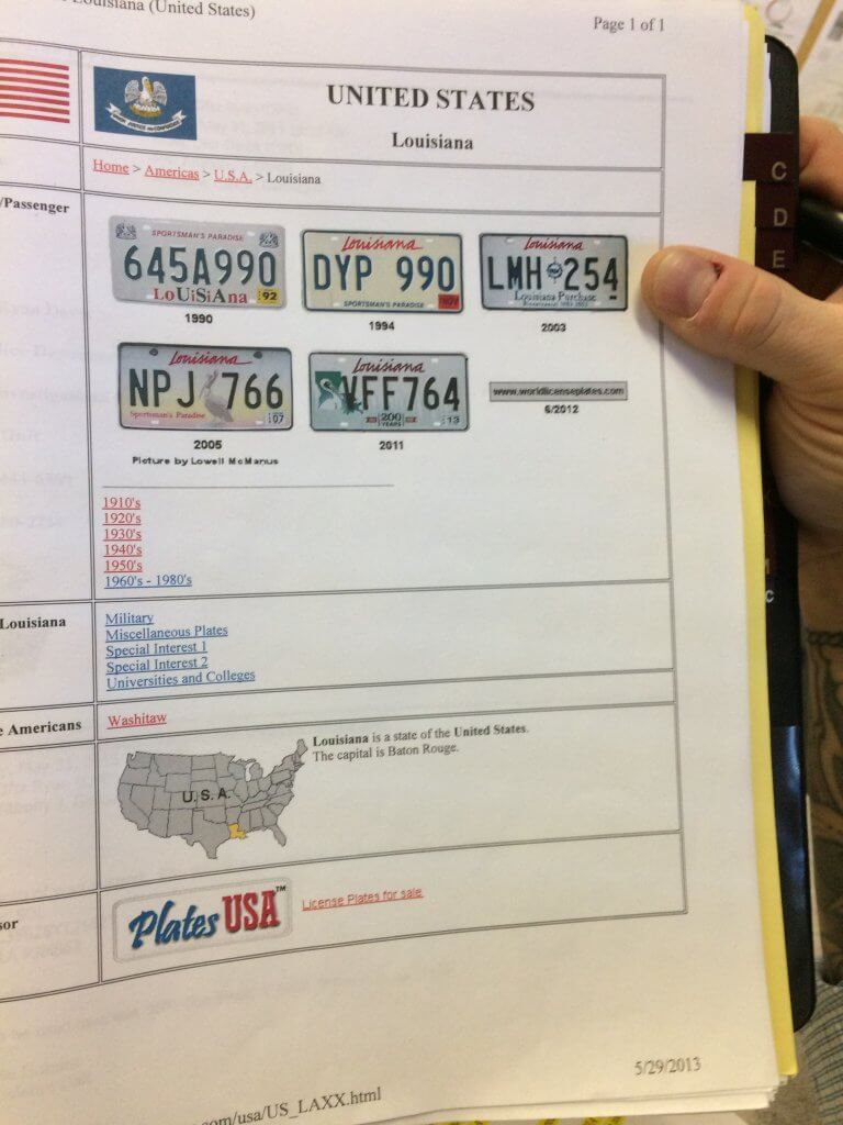 License plate images viewed by Mois. Evidence