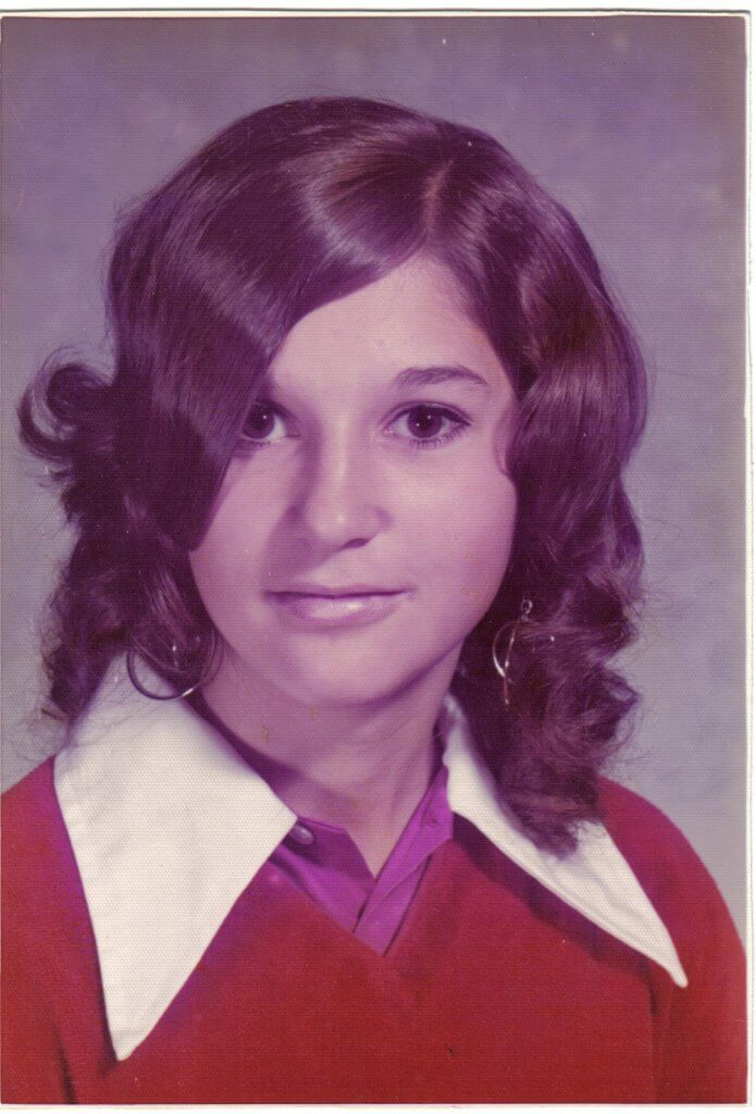 Jackie in the tenth grade in Mentor. Photo courtesy of Gayle O'Neill