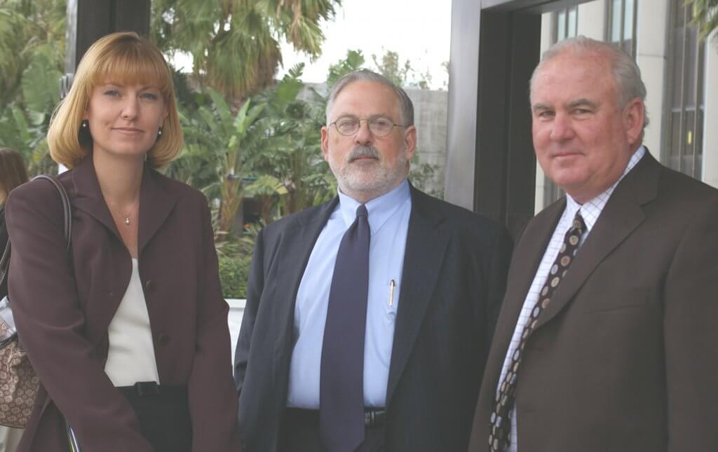 Skylar's defense team: (left to right) investigator Nicole Fischer, and attorneys Richard Schwartzberg and Gary Pohlson, Skylar's primary counsel. Pohlson conceded Skylar's guilt at trial, saying he was trying to save his client's life. Photo by Caitlin Rother