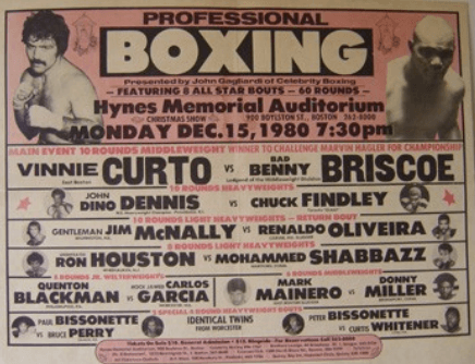 Poster of Vinnie Curto vs Bad Benny Briscoe 1980