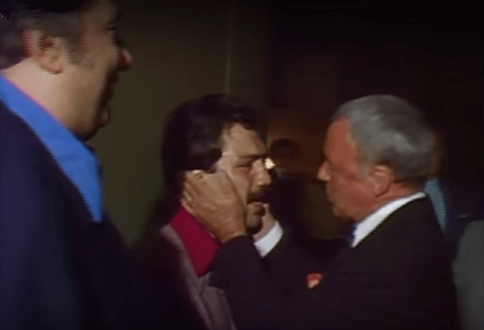 Sinatra Greeting Vinnie in Vegas along with Bob Botto