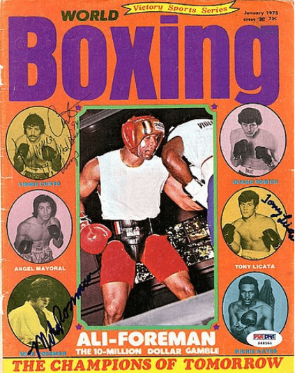 World Boxing Magazine Cover - Champions of Tomorrow with Mike Rossman and Tony Licata - on Amazon Memorabilia