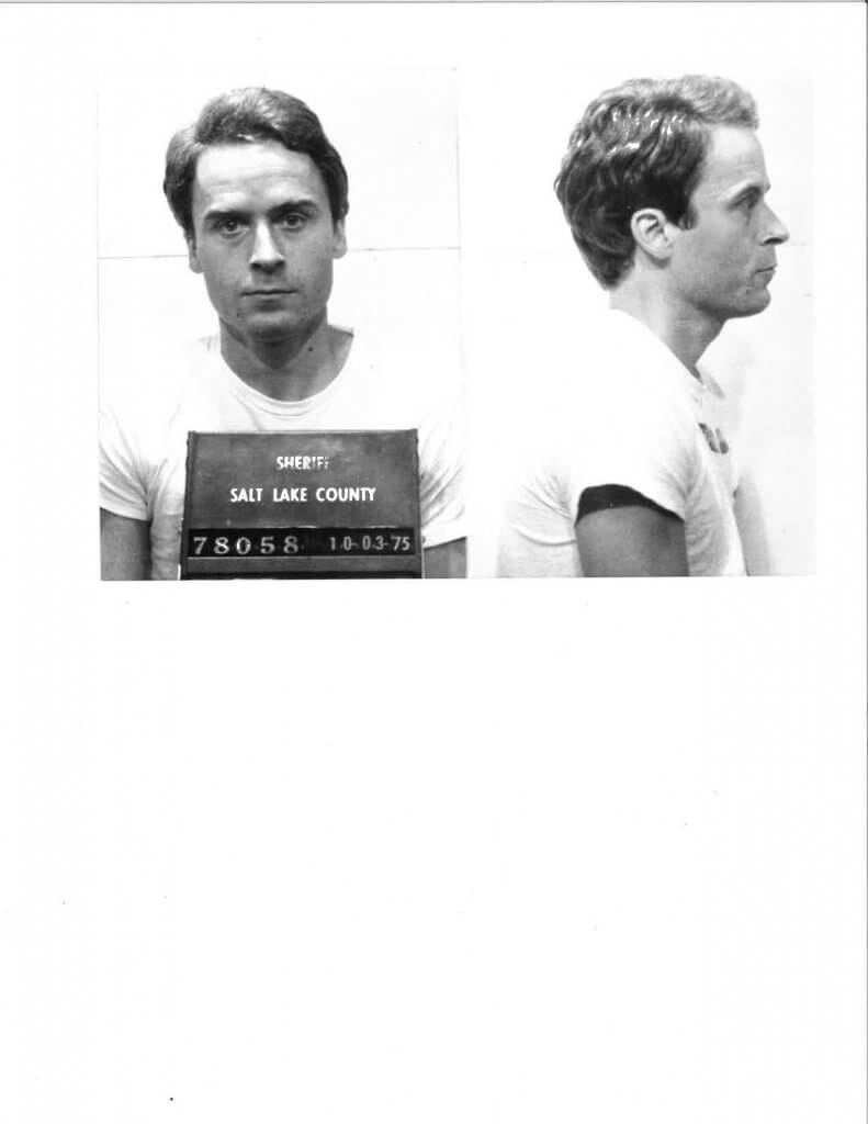Ted Bundy after his second arrest in Utah, October 1975
