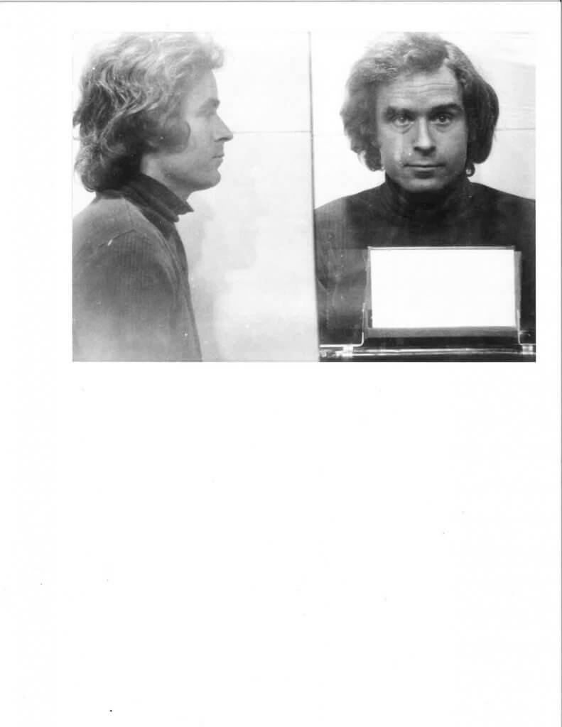 Ted Bundy after his August 16, 1975 arrest in Granger, Utah