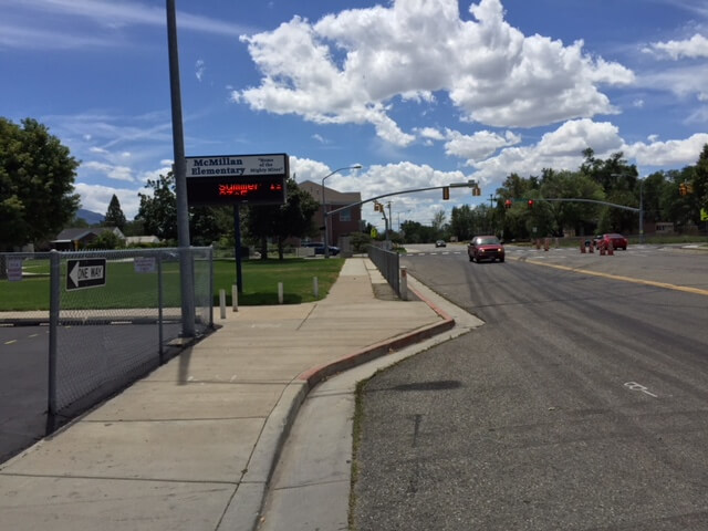 This is the location of the McMillan Elementary School in Murray, Utah where Bundy attacked Carol DaRonch after stopping his VW in this bus drop-off lane in front of the school.