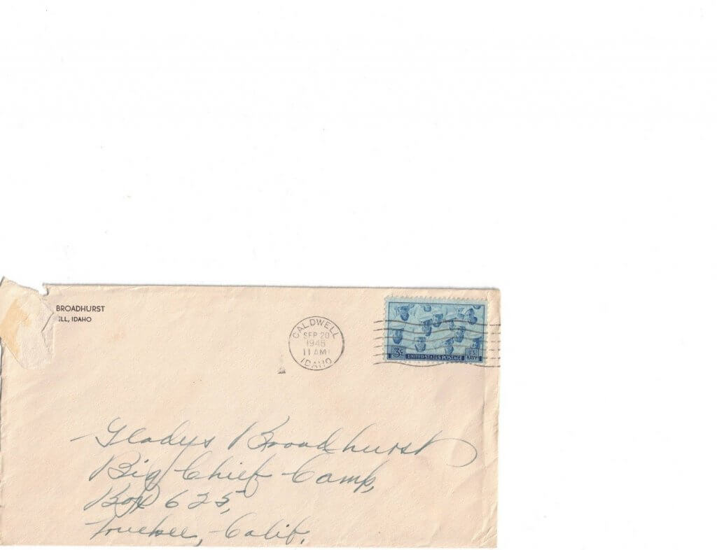 ENVELOPE FOR No 13