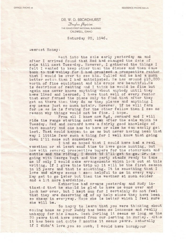 WILLIS LETTER No 14 - P1– 9-20-46