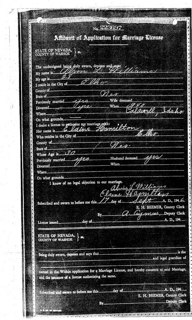 MARRIAGE APPLICATION - GLADYS - ALVIN