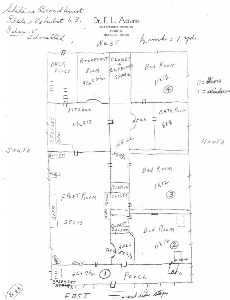 LAYOUT OF CALDWELL HOUSE