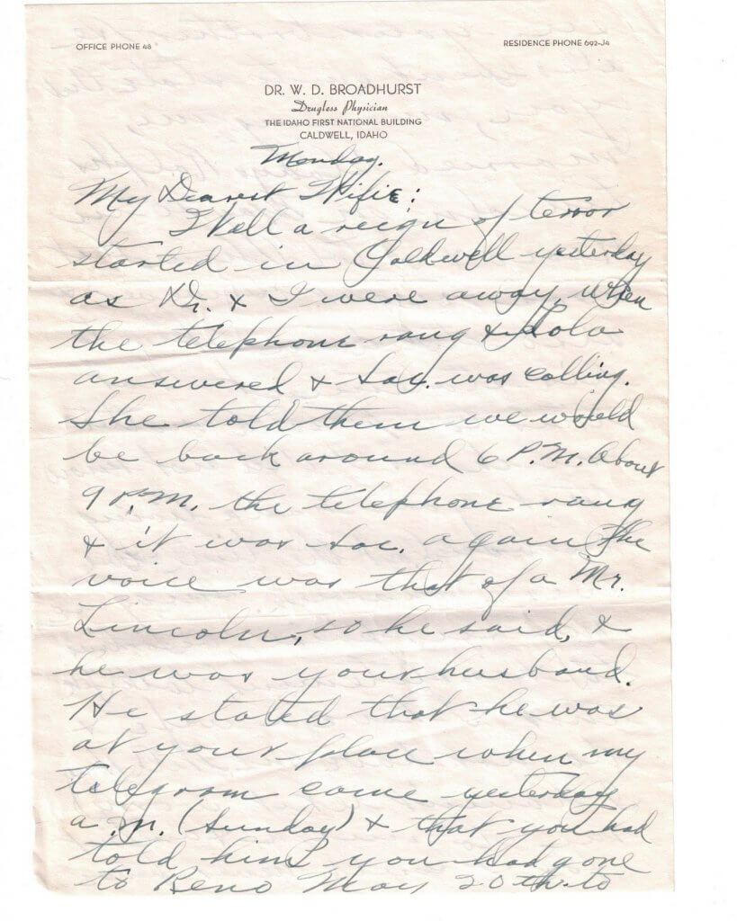 WILLIS LETTER No 3 - P1Attributed to 6-10-46