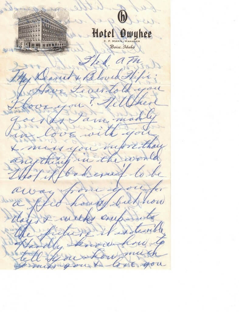 WILLIS LETTER No 4 - P1– 8-7-46