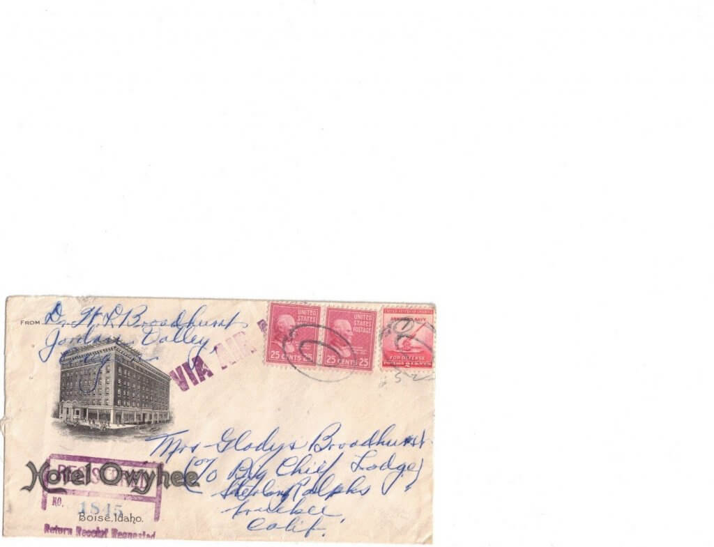 ENVELOPE AUG 7 - FRONT