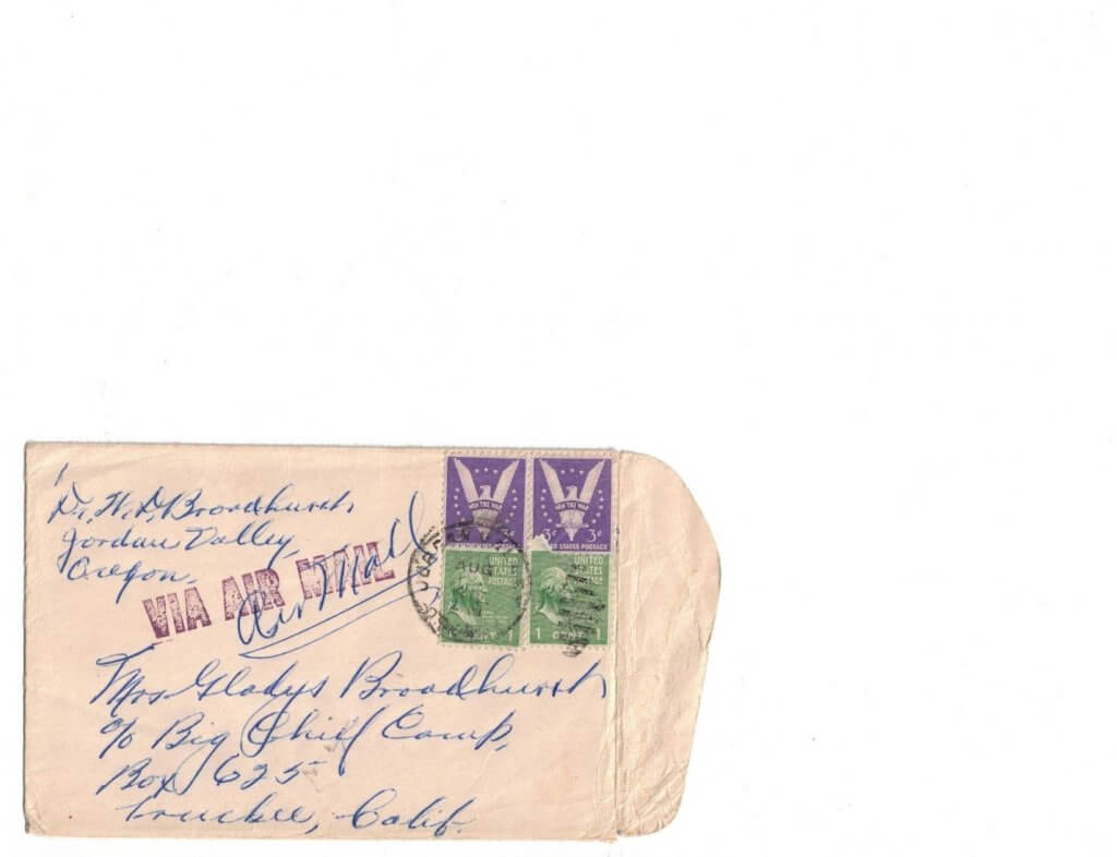 ENVELOPE FOR No 6 - FRONT