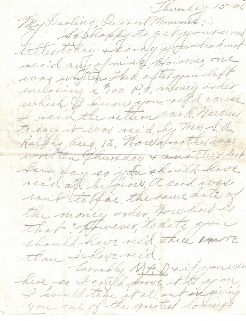 WILLIS LETTER No 7 - P1– 8-15-46