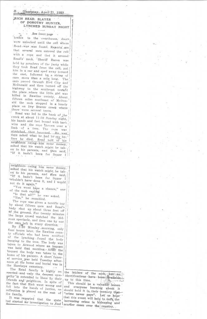 Article 1 Pg. 2 - The Rexford News, Thomas County, KS