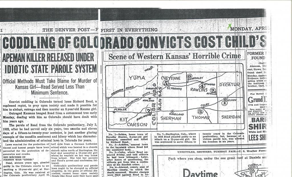 Article 4 Map Pg. 1 - The Denver Post, Denver, CO