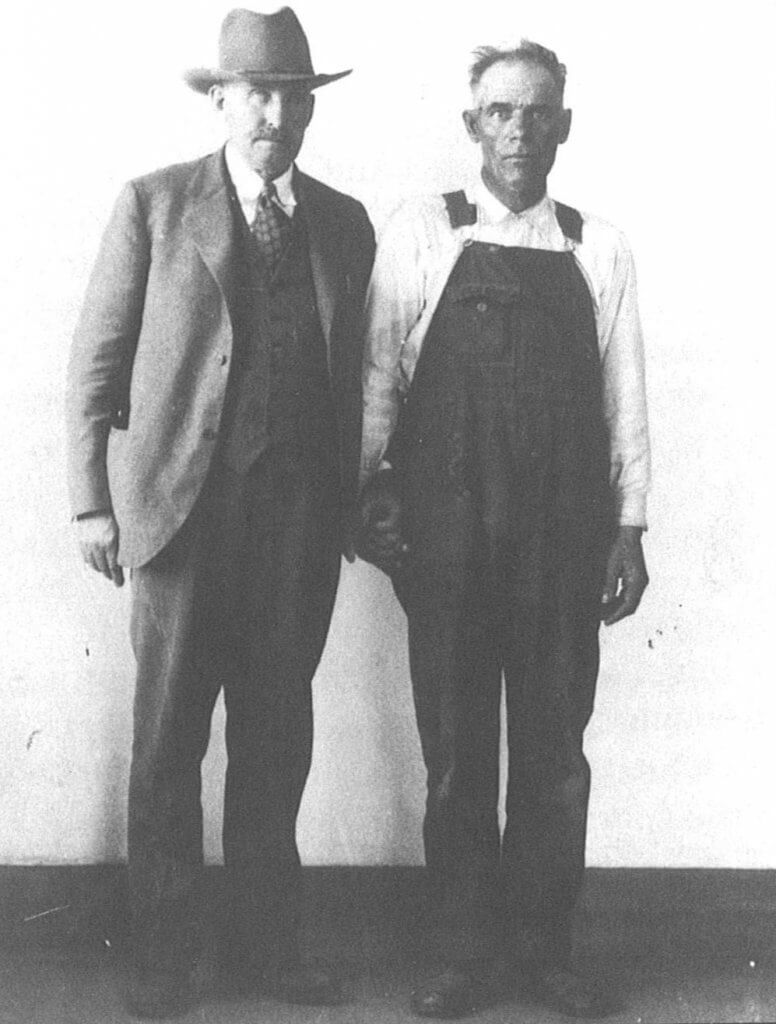 Photo of Sheriff Ed McGinley and Richard Read: Thomas County Museum, Colby, KS