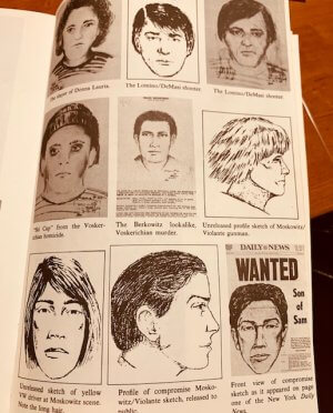"""Nine sketches of """"Son of Sam"""" suspects"""