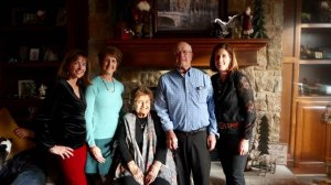 Victor and Phyllis Fehr Christmas 2019 with Renee Lisa and Julie The weight has lifted